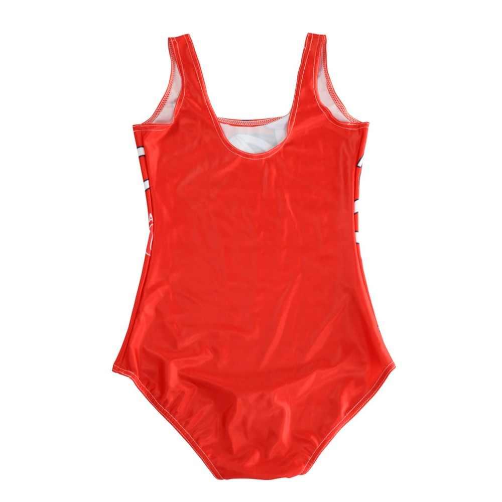 Плюс размер цельный купальный костюм популярный женский летний купальный костюм с цифровым принтом горячий боди плавательный костюм с открытой спиной сексуальный крутой клуб