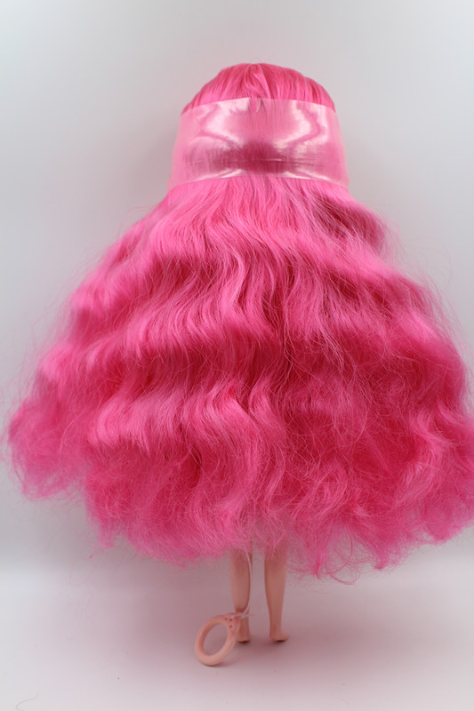 Special offer Blyth doll Light pink curly-haired nude doll 7 joint body DIY doll general body fashion doll.