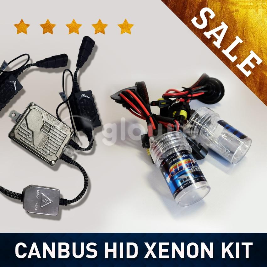 GLOWTEC 55W CANBUS HID XENON KIT HEADLIGHT HID KIT SLIM BALLAST XENON Bulbs H1 H3 H7 H8/9/11 ALL COLORS 4300K 6000K