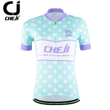 Cycling Jersey For Women MTB JerseysTop Bicycle Clothes Team Bicycle Jacket CHEJI Women's Bike Maillot Top S-XXL