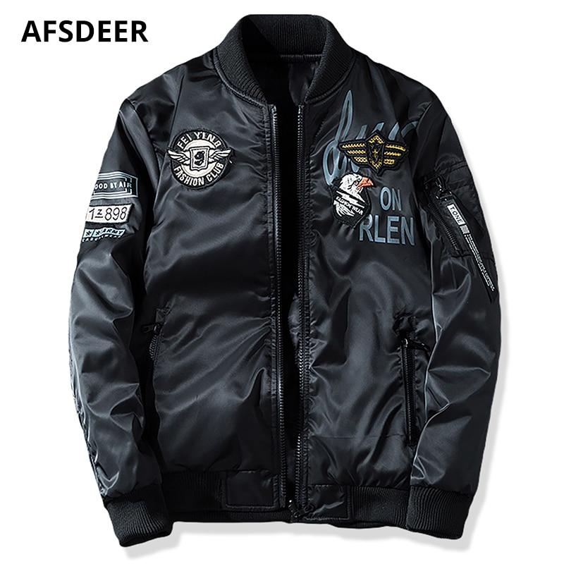 Mens Designer Coat Sale | Sale Shop Military Bomber Jacket Men Designer Clothes 2018 Autumn