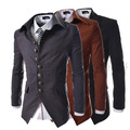 2017 Spring Male Clothing Palace Style Slim Skinny Men's Suit Single Row 8-button Buckle Design Lapel Collar Men's Suit Jacke