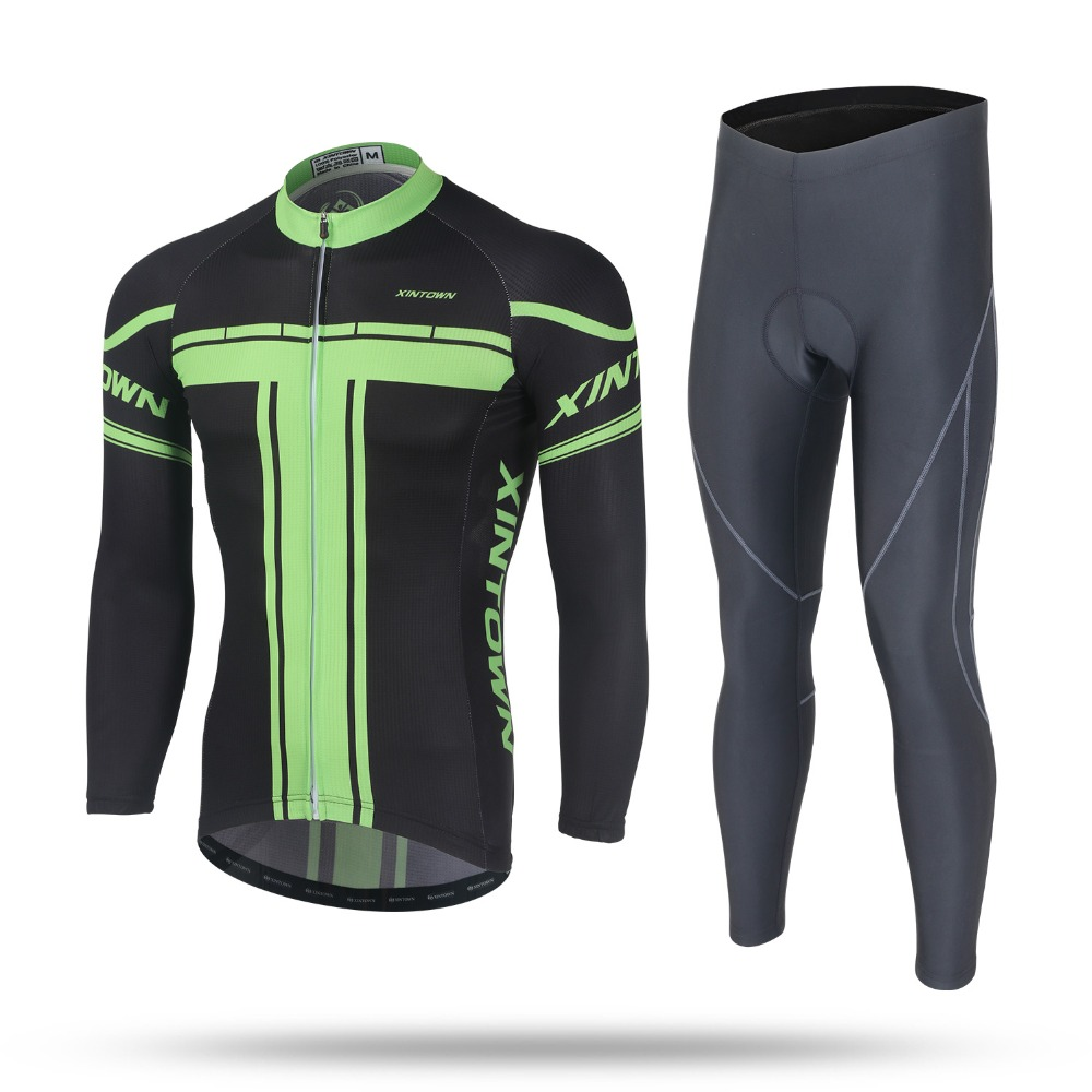Spring&Autumn Breathable Quick-drying Cycling Clothes Suit Man Anti-sweat Long Sleeve Bicycle Riding Trouser Bicycle Clothing
