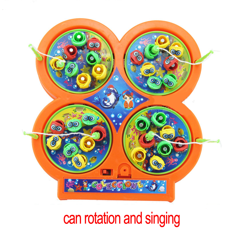 Rotating-Magnetic-Magnet-fishing-toys-4-fishing-poles-48-Pieces-fishes-Singing-kids-children-classic-toys-birthday-gift-1