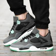 sale retailer f1be1 6bb03 Al aire libre de baloncesto Retro zapatos Jordan 4 zapatillas  antideslizante Durable aire caminar duro Tribunal