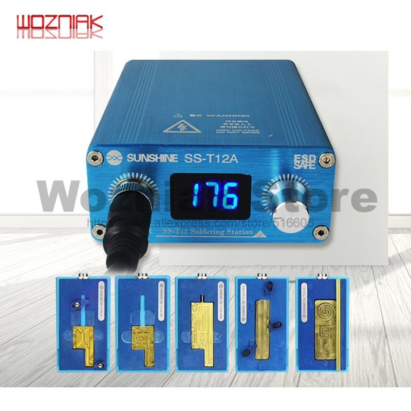 WOZNIAK SS-T12A เครื่องทำความร้อนสถานีความร้อน Groove สำหรับ iPhone 6 7 8 X XS MAX เมนบอร์ด CPU Desoldering ซ่อม