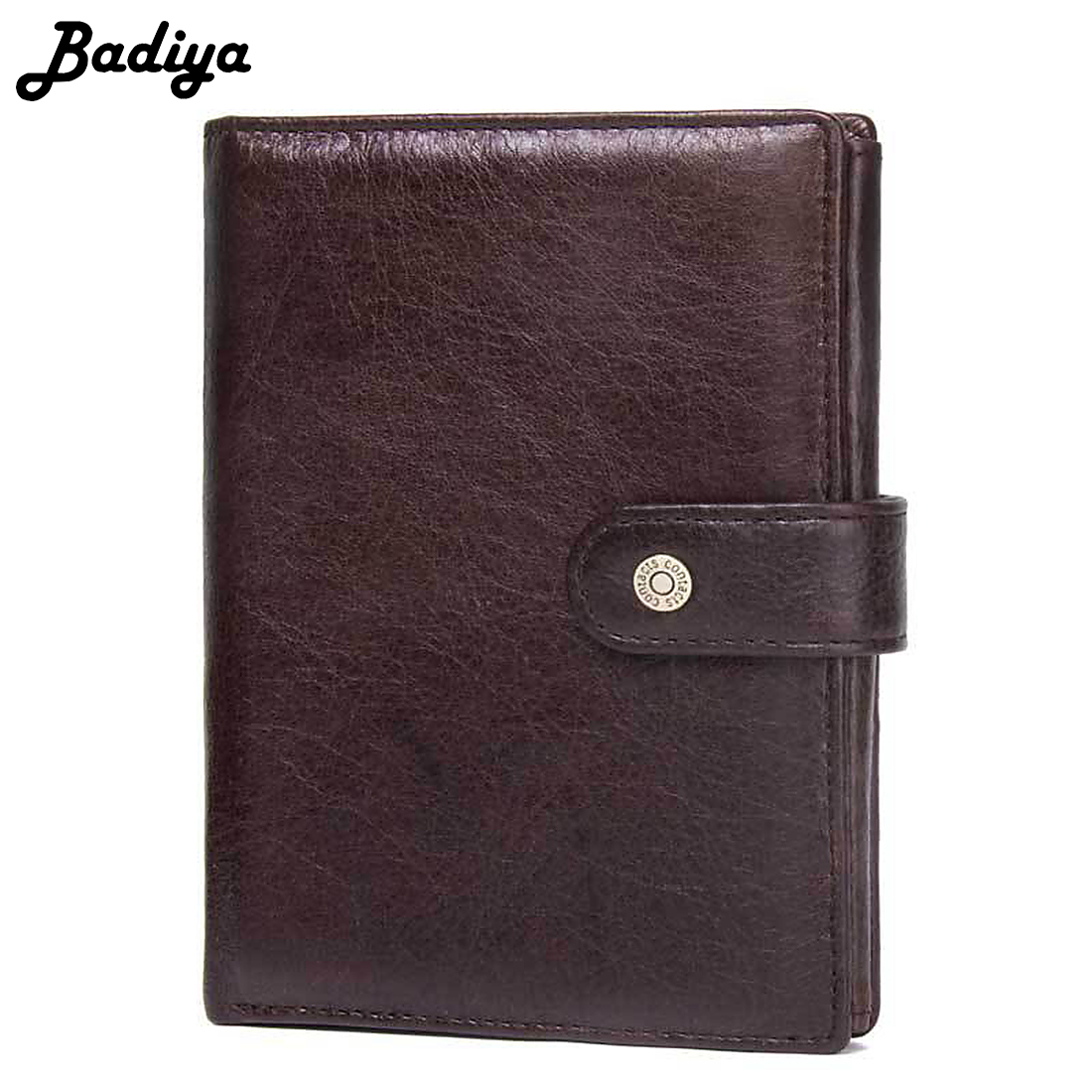 Vintage Men Genuine Leather Wallet Hasp Open Large Capacity Men Purse Card Holder Bifold Short Purse Clutch Coin Pocket Wallets