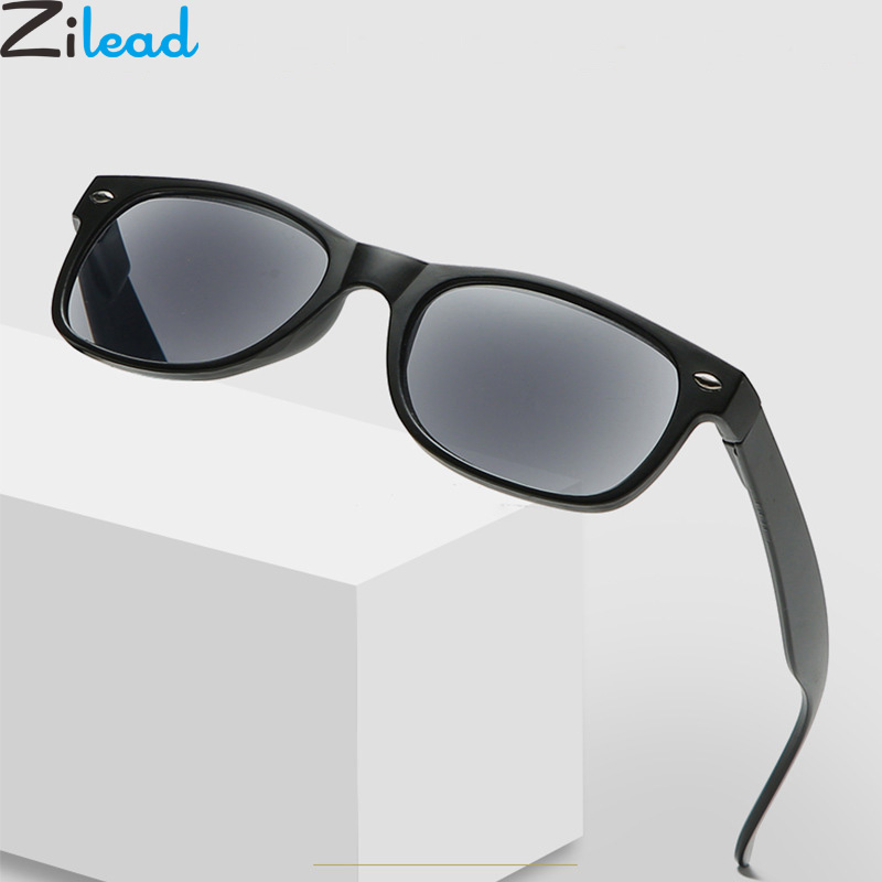 Zilead Portable Sun Reading Glasses Men&Women Presbyopia Eyeglases Sunglasses Hyperopia Eyewear With Case Unisex