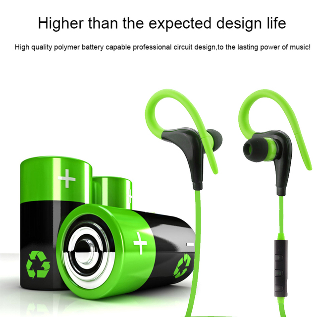 Wireless Bluetooth Over Ear Sports Earphone With Mic