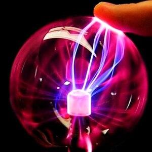 """Image 2 - 3 """"USB магический шар Электростатическая сферическая лампа хрустальная лампа настольная лампа Рождественский подарок для вечеринки"""