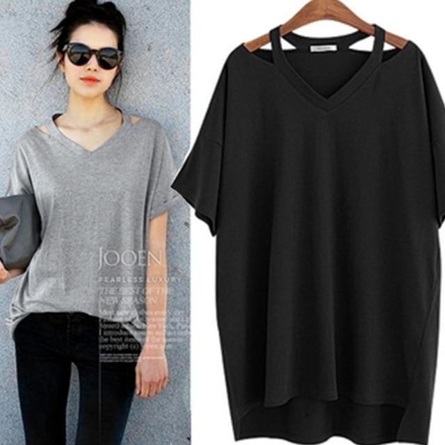 Fashion Cotton Bandage Shirt Tee Summer T-Shirts For Women Shirt Crop Top Short-Sleeve Ropa Mujer Camisetas Mujer Plus Size 5XL