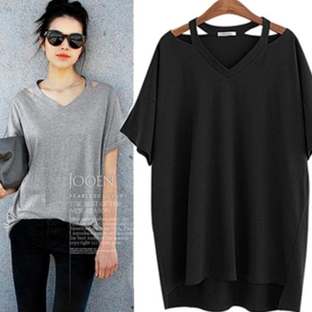 Vendaje de algodón moda camiseta Tee verano Camisetas para mujeres camiseta camisa corta de manga corta para Ropa Mujer Camisetas Mujer más tamaño 5XL