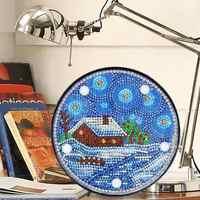Pittura Diamante FAI DA TE Pieno Trapano Speciale A Forma di Lampada di Notte del LED per la Camera Da Letto Decorazione Regali Di Natale