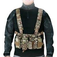 WoSporT Lightweight Strap Tactical Vests 1000D Nylon Bullet Clip Bag Vest for Outdoor Combat CS Filed Shooting Game Hunting Vest