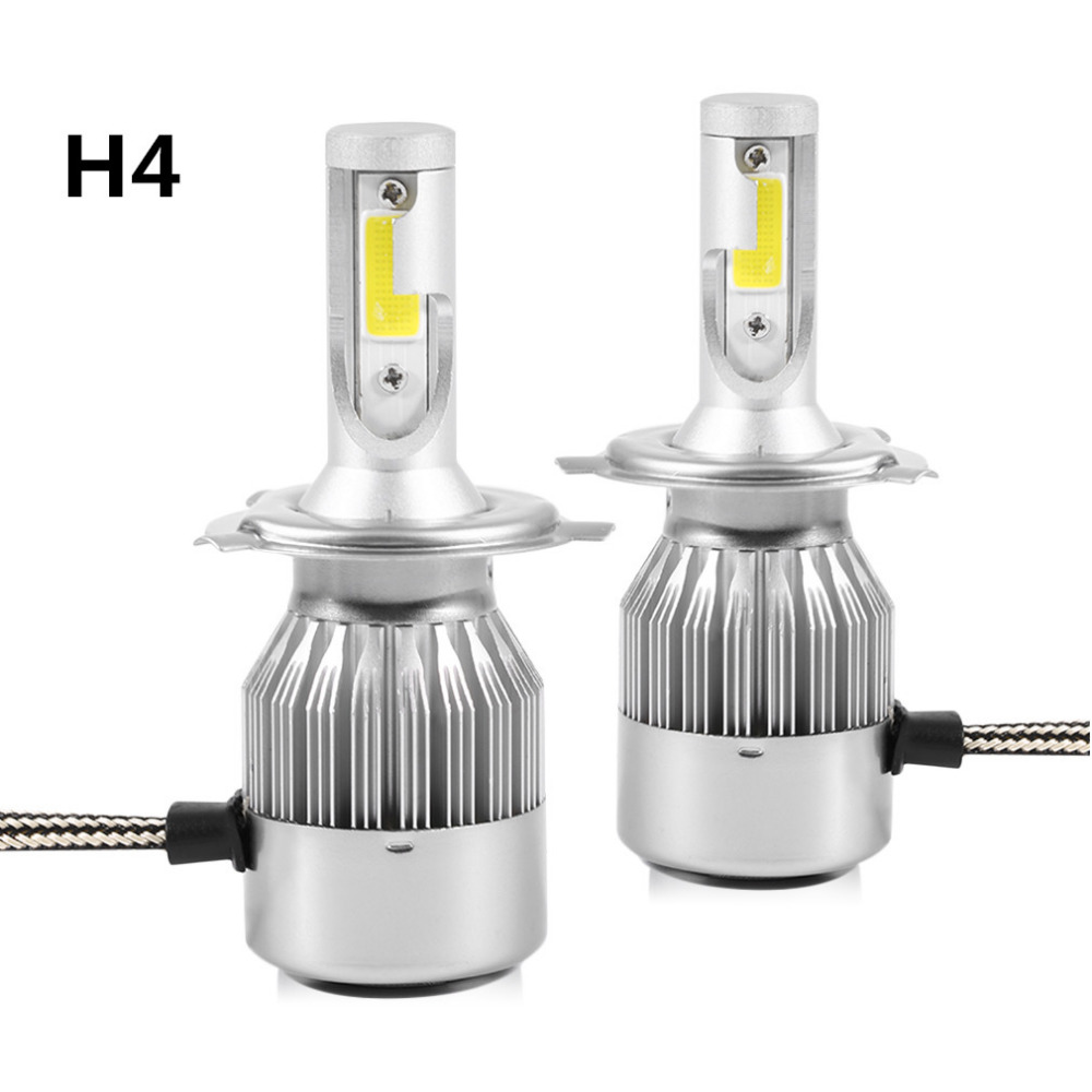 2017New Bulb Headlight Kit 72W 7600LM LED C9 H4 H7 9004 9007 9006 9005 6000K Fog Lamps LED High Power Bulb Headlights with fan