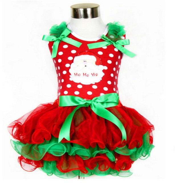 Fashion sleeveless santa claus dress retail girls