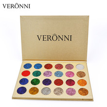 In Stock Original Brand VERONNI Cosmetics Eyes Makeup Palette Eyeshadow 24 Colors Glitter Powder Palettes