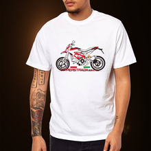 KODASKIN Motorcycle Style 100% Cotton for Ducati Hyperstrada 820 Casual Short Sleeve O-Neck T Shirt