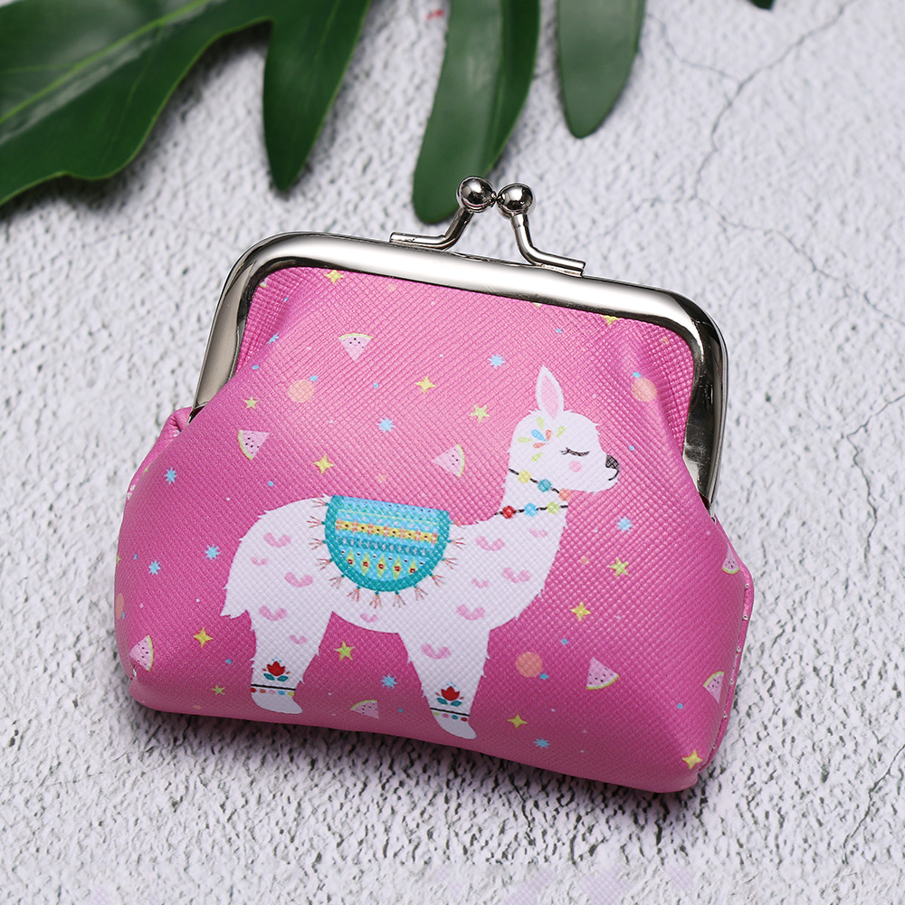 Unicorn Flamingo Cactus Alpaca Printed Coin Purse for Women Girls Cartoon Pattern Wallet Bag Zipper Coin Purse цены