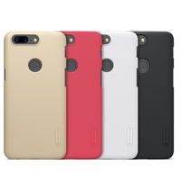 NILLKIN Phone Case For Oneplus 5t Hard Plastic Phone Cover With Screen Protector Fitted Case For