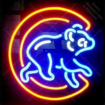 Neon light sign Bear Restaurant Beer Bar room Neon Lamp sign store display real glass tubes Letrero lights enseigne Handcraf