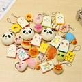 ¡ Nuevo!!! 10 UNIDS Medio Aleatorio Suave Blandita Panda/Pan/Torta/Bollos/Macaroon Teléfono correas Llaveros Mixtos