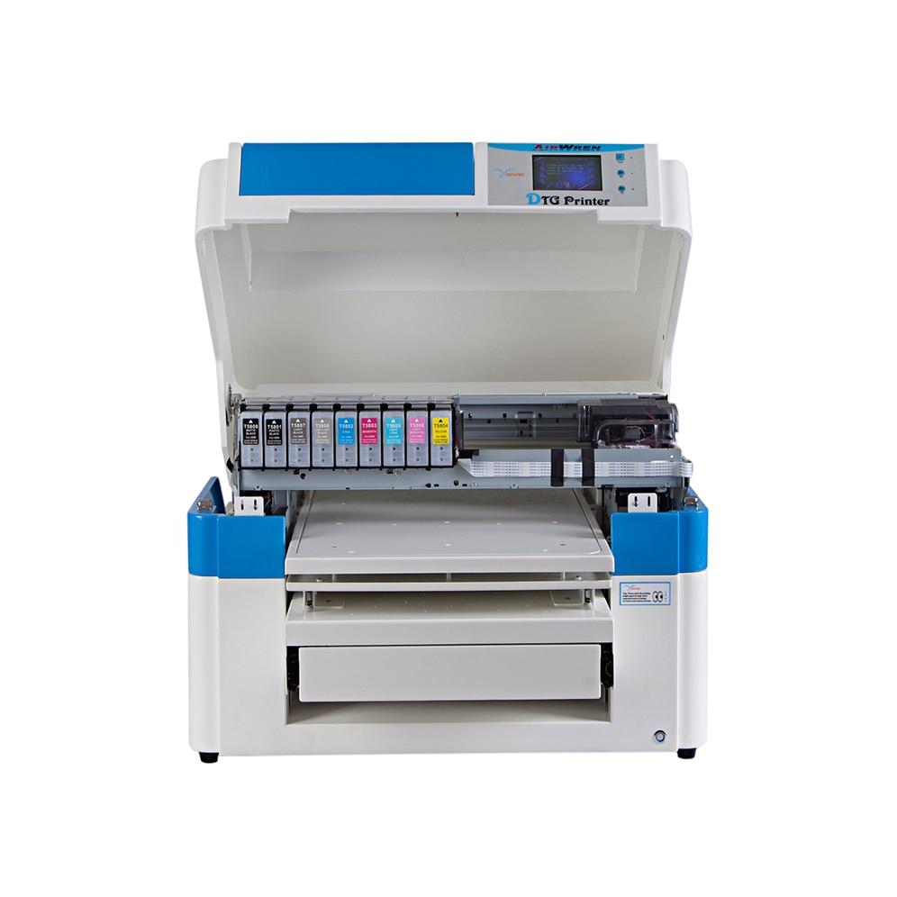 High Quality Digital Flatbed T-Shirt DTG A2 Printer For Black Garments Printing