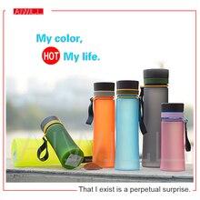 Neue sport wasserflasche bunten raum tasse hochwertigem kunststoff flaschen mit seil 400 ml/600 ml sommer geschenk freies verschiffen AIWILL