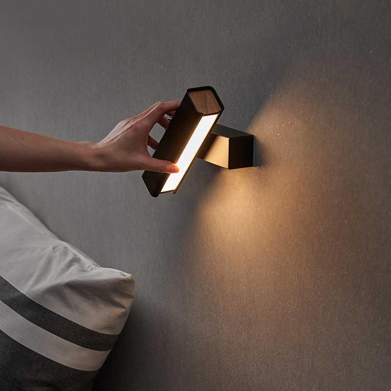 Простой настенный светильник led спальня прикроватный Декор скандинавский гостиной коридор, отель настенные лампы для ванной комнаты чтение прохода свет бюстгальтер