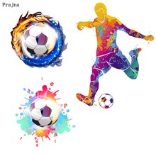 Prajna Fire Soccer Iron On Patches DIY T-shirt Football Play