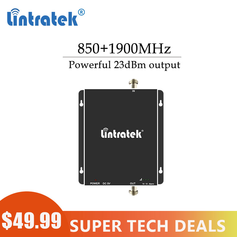Lintratek 2G 3G 850 1900 GSM 850 PCS 1900MHz Cellular Signal Booster  Repeater Band 2 UMTS 1900 CDMA 850 Amplifier Repetidor #8