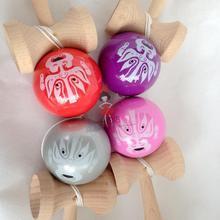 20 шт. перламутровые ПУ краски наконечники мяч Kendama, Профессиональная деревянная игрушка высшего качества Дракон лицо две стороны