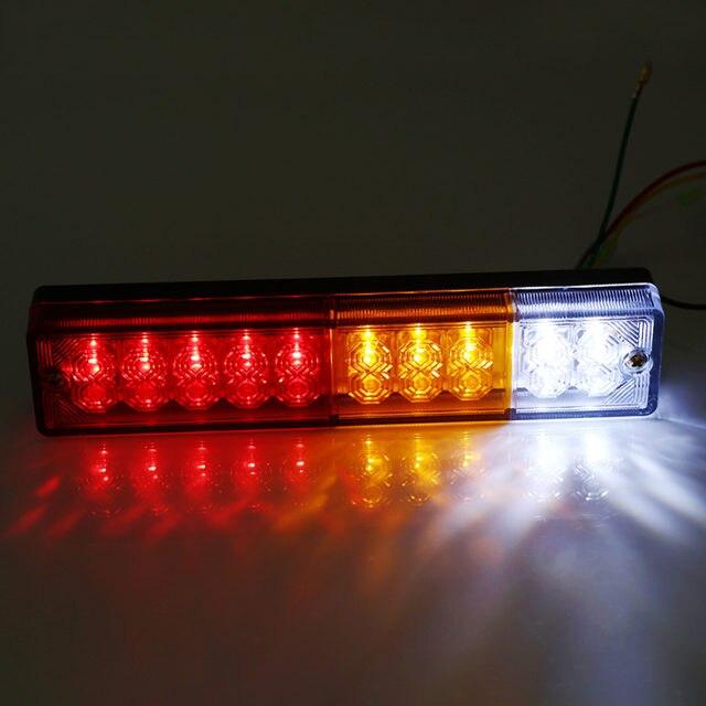 Online Shop 2pcs 12V/24V Trailer Lights LED Stop Rear Tail Brake ...