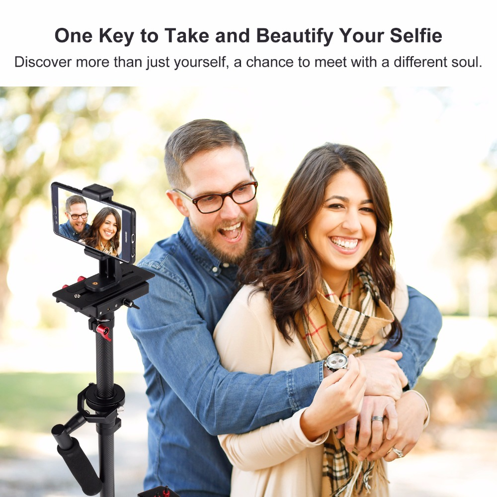 "ASHANKS 80cm/31.5"" Camera Stabilizer Carbon Steadycam HD2000 Handheld Steadicam for Photography Dslr Video 7kg with Carry Bag"