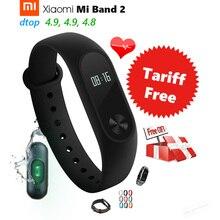 В наличии оригинал Сяо Mi Ми группа 2 смарт-браслет Band2 IP67 OLED Экран Touchpad Пульс сердечного ритма шаг Время Дата