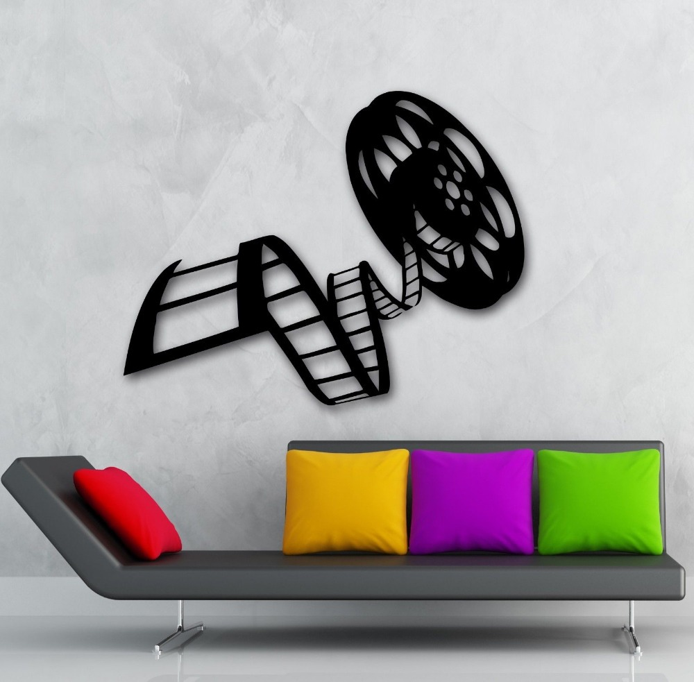 Buy movie film vinyl wall decal reel of for Decoration autocollant mural