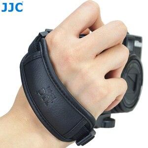 Image 1 - JJC skórzany pasek na rękę DSLR pasek w stylu vintage lustra uchwyt do aparatu na rękę szybki montaż dla NIKON D80 D300 D5200 i aparaty systemowe CANON EOS 450D