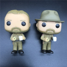 high quality POPS Stranger things & HOPPER PVC Action Figure Collection model toys birthday Gift 10cm stranger things hopper brenner nancy action figure bobble head q edition no box for car decoration