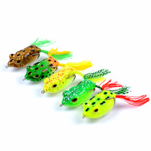 Artificial bait outdoor luya Topwater Simulated ray frog bionic 5.7cm/14g plastic Fishing Tackle 3D eye accessories