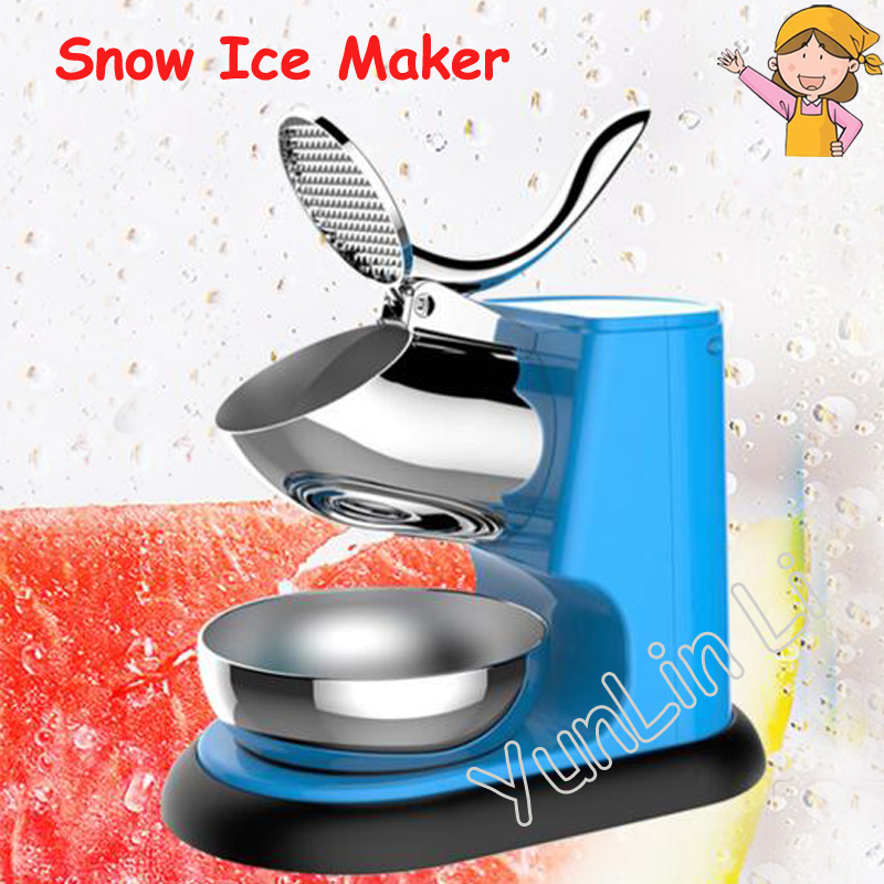 Portable Snow Ice Maker Electric Ice Crusher Commercial Aluminium Alloy Ice Crusher with Low Noise cricket noise maker