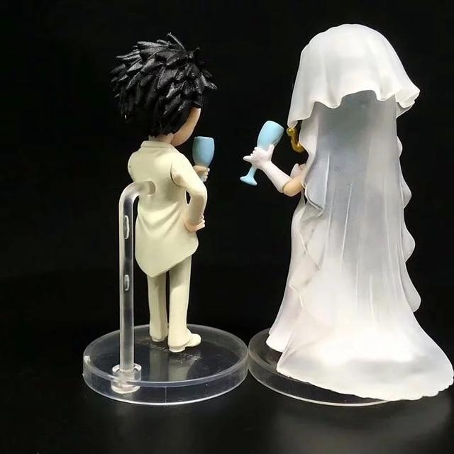 Аниме фигурки Луффи и Боа Хэнкок в свадебном платье Ван Пис 5