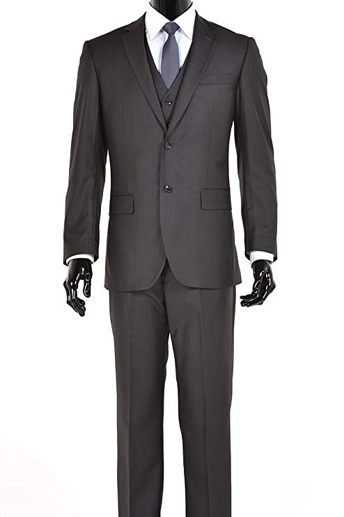 2019 Custom Slim Fit Elegant Mens Charcoal Gray Two Button Three Piece Wedding  Suit Wedding Suits Groomsmen Best Man Costume