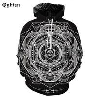 2017 New 3D Print Pattern Men/Women Hoodies Hat Tops Harajuku Pullover Casual black Sweatshirts Hoodies Plus Size 3XL