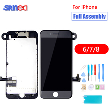 Full Set Assembly LCD Display Digitizer For iPhone 6 7 8 AAA Quality Touch Screen i Phone No Dead Pixel Black White Tools