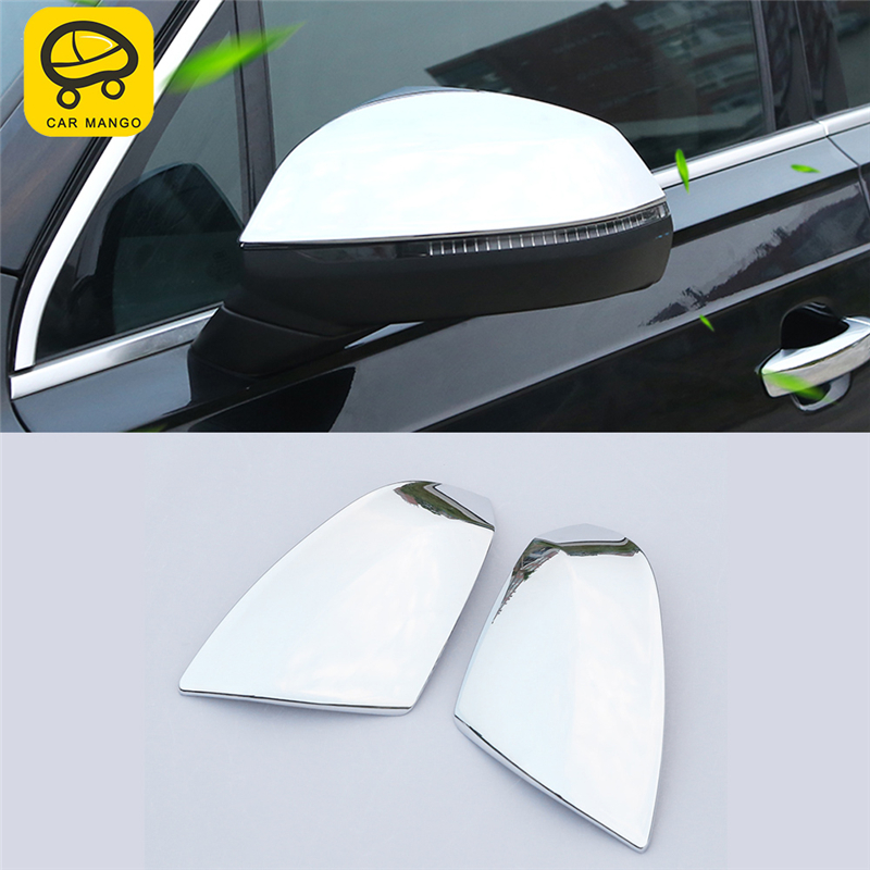 CAR MANGO Car Styling Rearview Mirror Protector Cover Trim Frame Sticker Exterior Accessories for Audi Q7 2016
