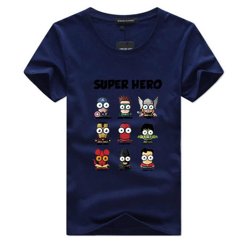 The Avengers Super Hero Marvel Cotton T Shirt Homme 2019 Avengers Endgame Men Tops Tees Mens Skateboard Shirts Summer Tops 5XL