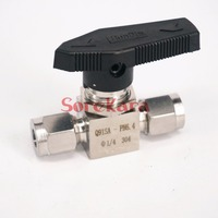304 Stainless Steel Compression Fitting Shut Off Needle Valve 915 PSI Q91SA PN 6 4 Fit