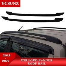 Черный Багажник на крыше автомобиля Перевозчик бары для Ford Ranger WILDTRACK 2012 2013 2014 2015 2016 2017 2018 2019 T6 T7 двойной Cabin
