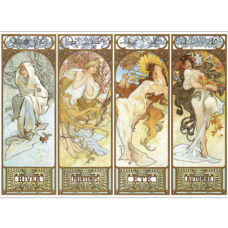 "New Product Grownups Juguetes educativos Rompecabezas de papel 3D Piezas de ""Four Seasons"" Old Master Puzzle de pintura"
