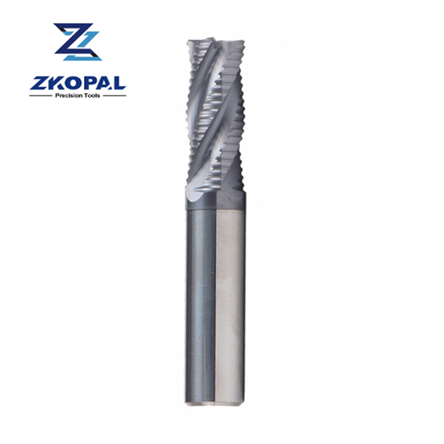 D8*60 Wave edge End mill 4Flute Alloy Rough skin milling cutter For Steel 3Pcs